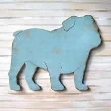 english bulldog sign dog home decor english bulldog art
