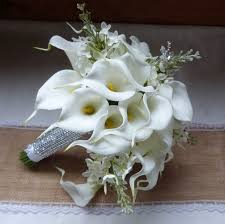 white calla white calla wedding bouquet real touch mini white calla
