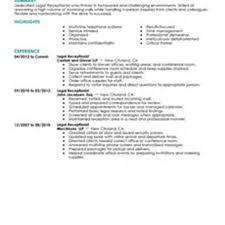 Resume Samples Receptionist by Resume Examples For Hair Salon Receptionist Augustais