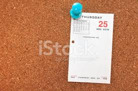 thanksgiving calendar page on corkboard stock photos freeimages