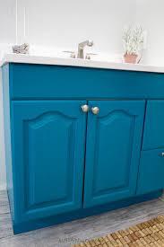 Repainting The Vanity Painting A Bathroom Vanity The Easy Way One Room Challenge