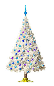 fancy inspiration ideas white tree with colored lights