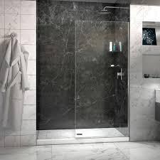 30 Shower Door Linea Frameless Shower Door 30 In X 72 In Open Entry Design
