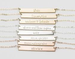 Necklace With Children S Names Custom Initial Necklace Gift Mother U0027s Necklace