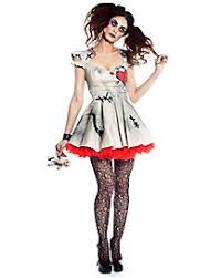 Porcelain Doll Halloween Costumes Womens Creepy Doll Costumes Voodoo Doll Broken Doll
