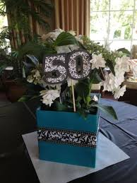 party centerpieces 50th birthday party decorations