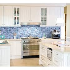glass tile backsplash pictures for kitchen cool blue backsplash tile blue and glass kitchen tiles for