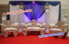indian wedding chairs for and groom wedding designer carved stage furniture dstexports