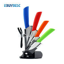 colored kitchen knives 4 color cooking tools kitchen knives set 3 4 5 6 inch peeler