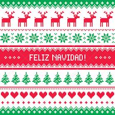 feliz navidad christmas card feliz navidad card scandynavian christmas pattern royalty free