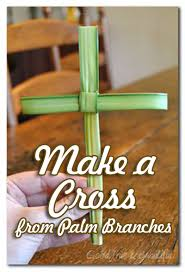 palm sunday crosses sunday easter craft make a cross from palm branches