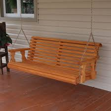 4 natural cedar porch swing amish crafted review