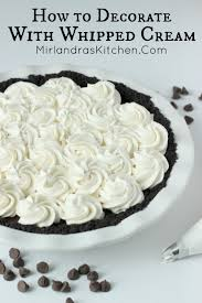 Decorate How To Decorate With Whipped Cream Mirlandra U0027s Kitchen