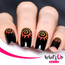 whats up nails tribal sun stencils whats up nails
