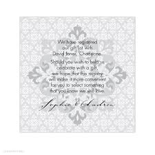 Wedding Gift List Wording Alannah Rose Wedding Invitations Stationery Shop Online