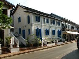 french colonial buildings in luang prabang laos robert wilson