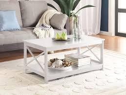 amazon com convenience concepts oxford coffee table white