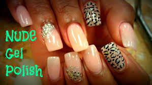 gel polish nail art beige color youtube
