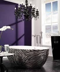 Black And Purple Bathroom Sets Zebra Prints And Decorative Patterns For Modern Bathroom Decorating