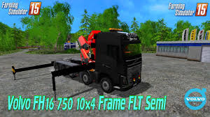 volvo semi volvo fh16 750 10x4 frame flt semi v2 0 farming simulator