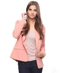 nocth lapel one button pink women business suits jackets