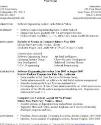 Computer Engineering Resume Examples by Sample Engineer Computer