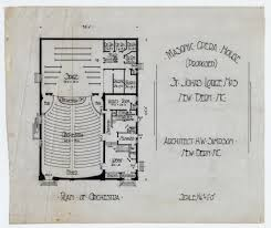 masonic lodge floor plan plan of orchestra masonic temple architecture pinterest