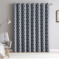 Amazon Door Curtains Amazon Com Deconovo Abstract Circle Print Curtains With Grommets