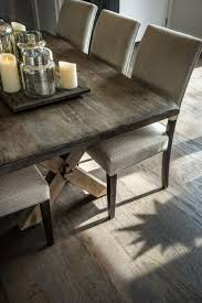 Distressed Black Dining Table Furniture Wide Seat Comfortable With Farmhouse Dining Chairs
