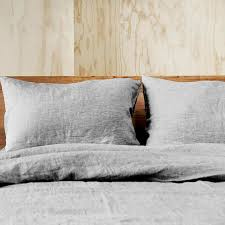 new doux pure linen quilt cover 100 linen grey ebay