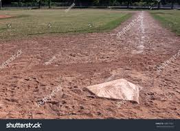 Home Plate Baseball View Down Right Field Line Baseball Stock Photo 108577361