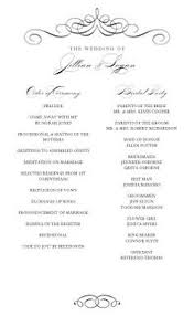 wedding programs sles 2 modern wedding program and templates wedding programs