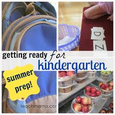 how to prepare your child for kindergarten summertime prep