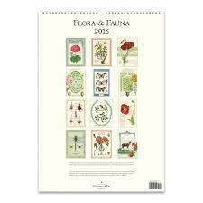 cavallini calendars cavallini papers 2016 wall calendar flora fauna 13 x 19 eco