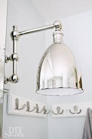 Polished Nickel Wall Sconce Bathroom Makeover Diy Show Off Diy Decorating And Home
