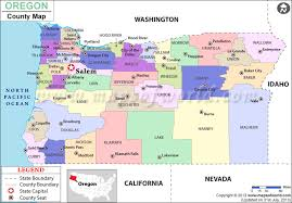 map of oregon state buy oregon county map