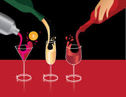 wine vector pouring martini champagne and wine vector clip art by mmmadisonave