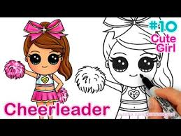 how to draw chibi cheerleader step by step cute youtube