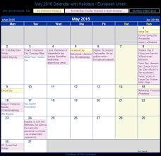 print friendly may 2016 eu calendar for printing
