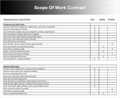 scope of work templates free word pdf document creative template