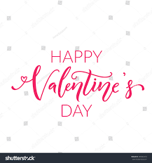 happy valentines day text on white stock vector 360546419