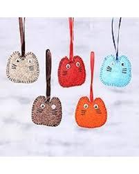 savings wool felt ornaments waiting for santa set of