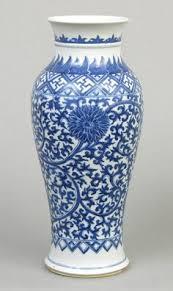 blue and white village porcelain lion head planter 10
