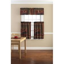 Apple Kitchen Curtains by Kitchen Valances Walmart Com