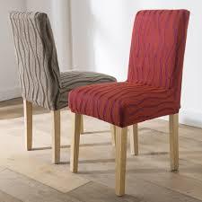 housse chaises housse chaise extensible jacquard lot de 2 blancheporte