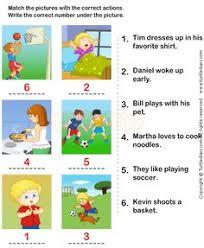 action verbs worksheets 2 esl efl worksheets kindergarten