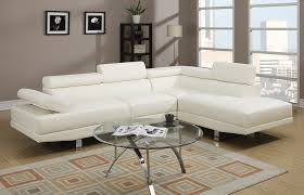 Faux Leather Sectional Sofa With Chaise Poundex 2 Pieces Faux Leather Sectional Right Chaise Sofa