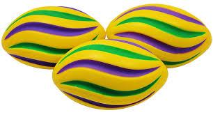 bulk mardi gras bulk mardi gras swirl footballs 7in 3 colors 30