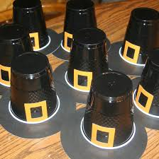 thanksgiving pilgrim hat cups craft preschool crafts for