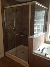 Wood Shower Door by Semi Frameless Shower Doors Raleigh Nc Shower Glass